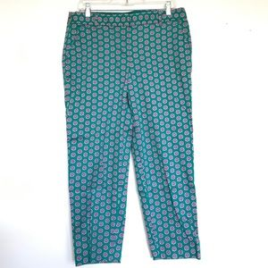 Fun patterned J Crew pants